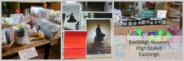 Postcards, jam, gifts at Eastleigh Museum.