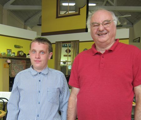 Graham (right) and Daniel, two volunteers at Eastleigh Museum.