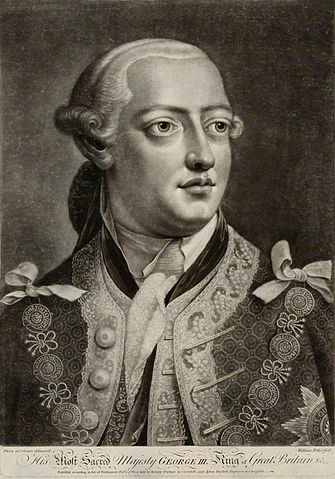 George III in 1762, after a painting by Thomas Frye.  by William Pether, published by Henry Parker, and published by John Boydell, after Thomas Frye, mezzotint, published 1 October 1762