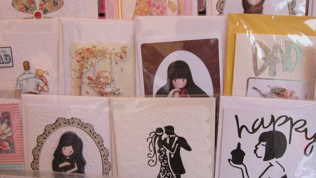 Hand-made cards and papercraft gifts by Margaret.