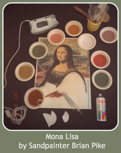 Mona Lisa, by environmental sandpainter Brian Pike.