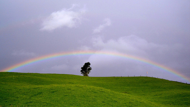 "Rainbow by <a href=""https://www.flickr.com/photos/essjay/75857600"">Sarah Macmillan</a> via Flickr."