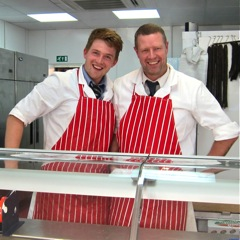 Tony Padfield and Lewis Vigor, new butchers, Fryern Arcade, Chandler's Ford.