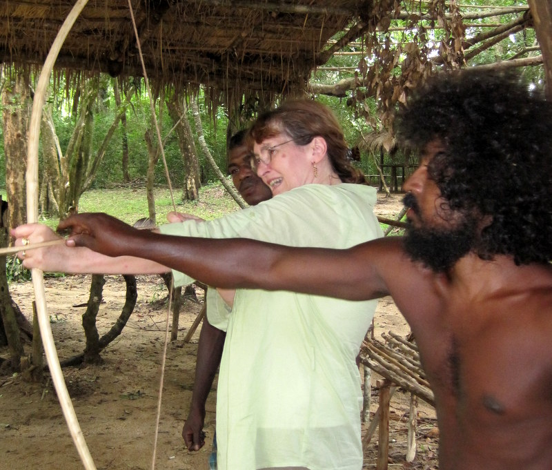 Lesson in hunting with the Vedda.