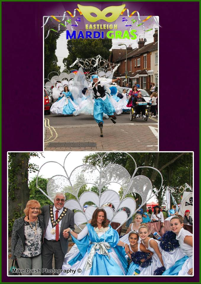 """The Mayor of Eastleigh Councillor Tony Noyce and Mayoress Mrs Janice Noyce enjoying the parade. (Image credit: <a href=""""http://www.mikedaishphotography.co.uk/"""">Mike Daish Photography</a>."""