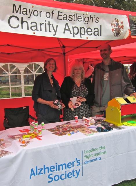 Mayor of Eatleigh's charity appeal: Alzheimer's Society and Cycles4all.