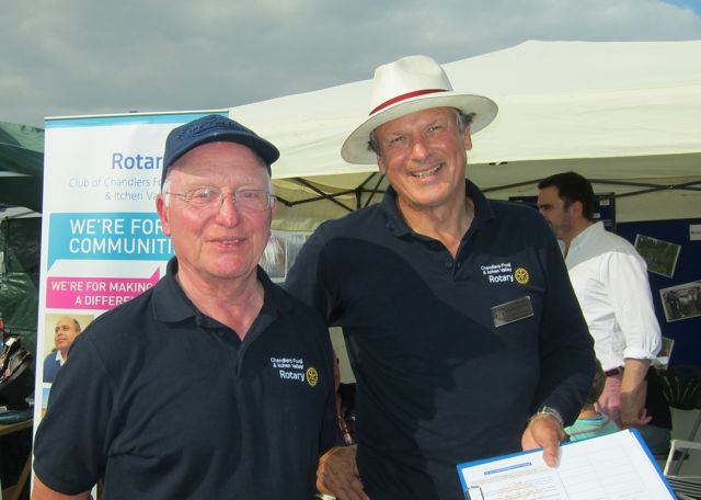 Mike Scrivener (left) and Ian Phillips from The Rotary Club of Chandler's Ford & Itchen Valley.