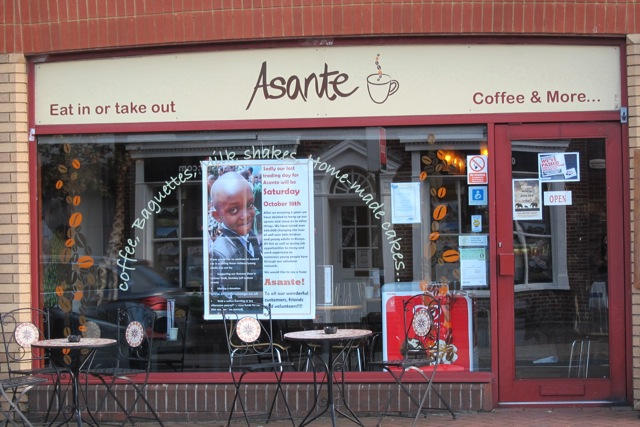 Asante coffee shop was closed after 5 years in Chandler's Ford.