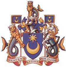 Portsmouth Coat of Arms. Motto - Heaven's light our guide.