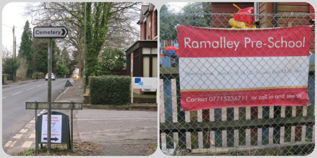 Entrance to Chandler's Ford Second Ramalley Scout Hut, Ramalley Pre-School, and Ramalley Cemetery: Ramalley Lane, off Hursley Road.
