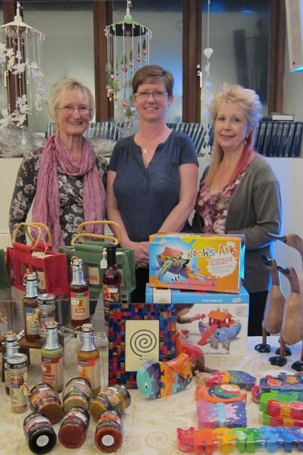Faritrade champions in Chandler's Ford and Eastleigh: (Left to right): Tricia Urquhart, Sue Hunt, and Heather Dibb.