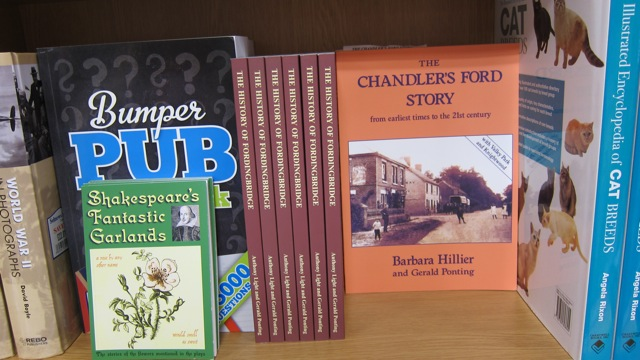 Chandler's Ford book by Barbara Hillier and Gerald Ponting - sold at WH Smith in Chandler's Ford.