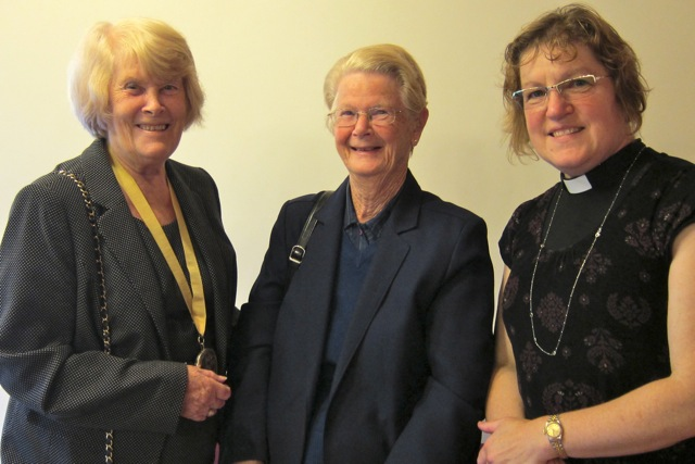 (From the left) Deputy Mayor of Eastleigh, Councillor Jane Welsh, church secretary Gill Dobson, and Reverend Christine Whitehead.