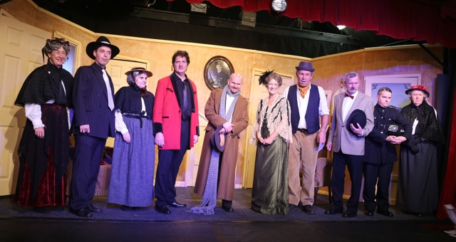 Ladykillers cast, by Chameleon Theatre Company, Chandler's Ford, Eastleigh.