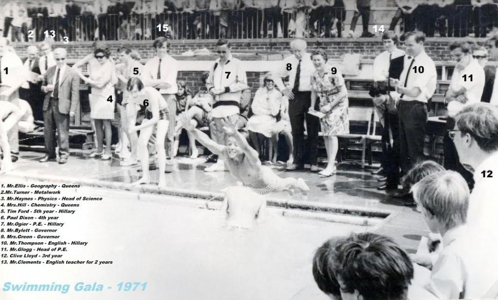 1971 - Swimming Gala. Montgomery of Alamein School.