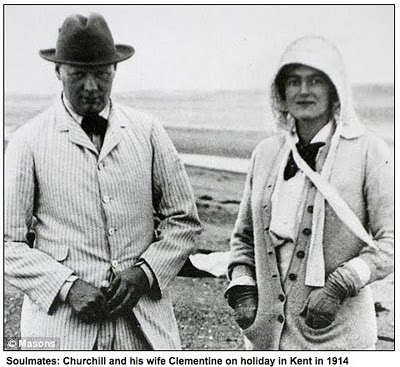 "Winston Churchill and his wife Clementine on vacation in 1914, by <a href=""https://www.flickr.com/photos/williamarthur/4894243151"">William Arthur Fine Stationery</a> via Flickr."