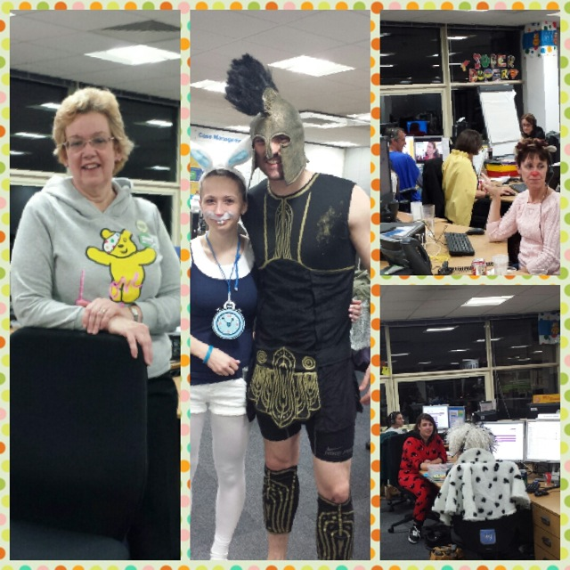 We were busy at Aviva call centre for Children in Need.