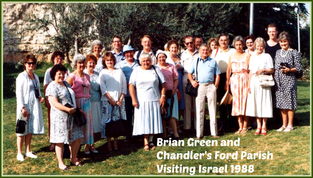 Brian Green led a group from Chandler's Ford parish in 1988 to visit the Holy Land.