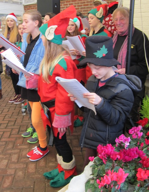 Centrestage Productions Youth Theatre - singing Christmas Carol at Brambridge Park Garden Centre today.