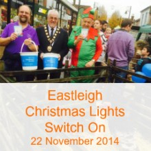 2014 Eastleigh Christmas Lights Switch on: Snow Has Fallen
