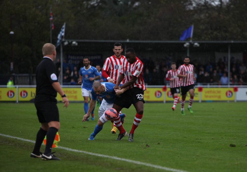 Constable shrugs off a challenge from Lincoln City's Nat Brown