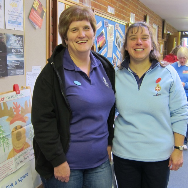 Elisabeth Greenham (right), captain of The First Chandler's Ford Girls' Brigade, and Joy Hill.