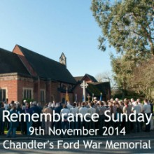 Remembrance Sunday in Chandler's Ford: 9 November 2014
