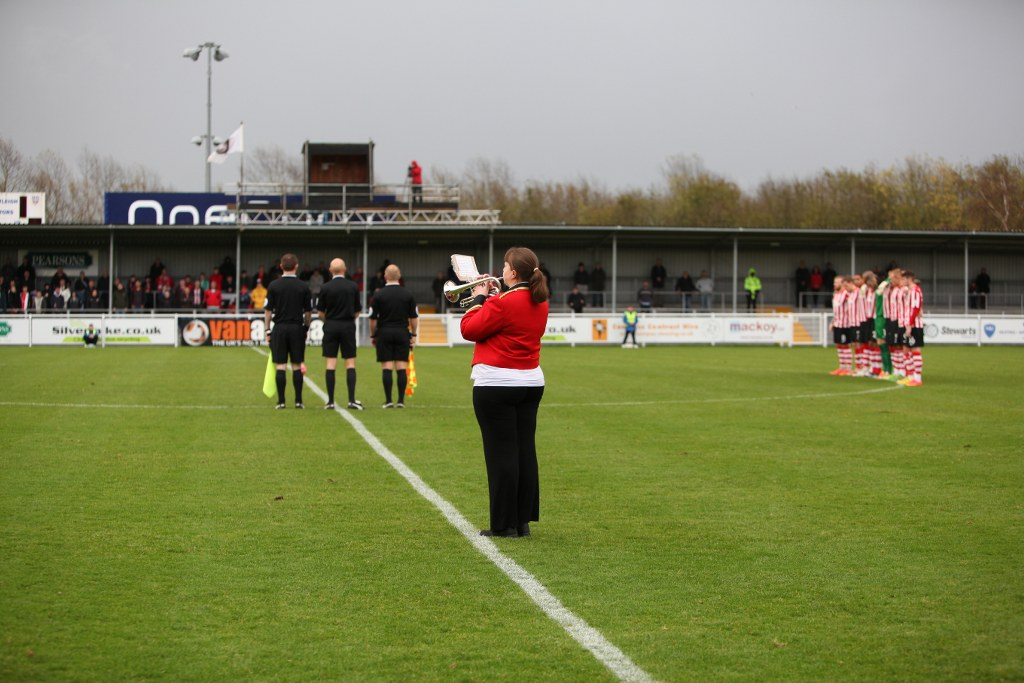 The last post was played prior to a minutes silence being observed by players and supporters
