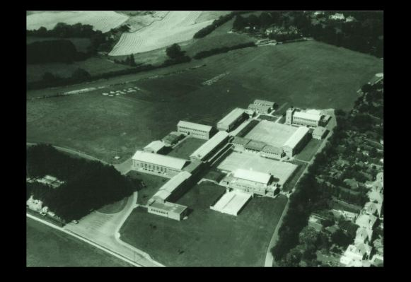 Aerial panorama view of Montgomery of Alamein School in Winchester.
