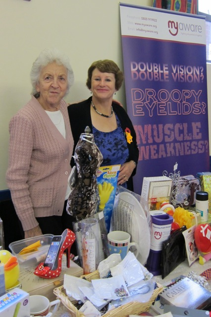Myaware: (right) Jackie Perry, Hampshire branch care organiser, and Barbara Openshaw.