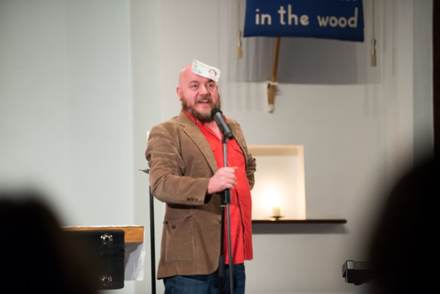 Comedian George Egg.  Performing on 13 Dec 14 at St. Martin in the Wood Church, Chandler's Ford.