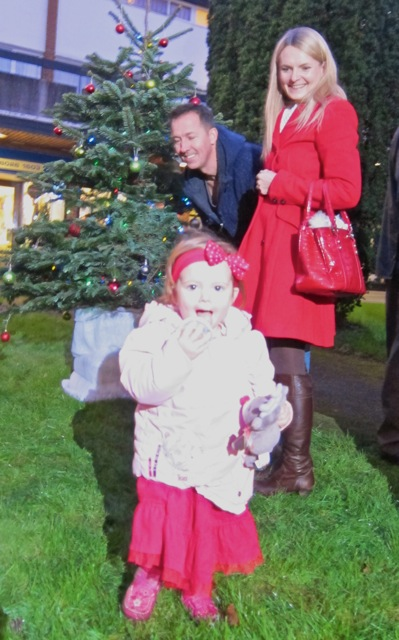 Beautiful two-year-old Jasmine switched on the Christmas lights at the Central Precinct.