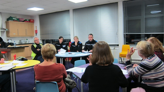 Police and Community Together (PACT) meeting for Chandler's Ford & Hiltingbury, December 2014.