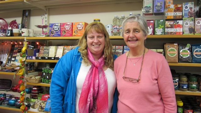 Kimberly Jones (left) and Ruth Arnold from Shop Equality in Eastleigh wish you peace and happiness.