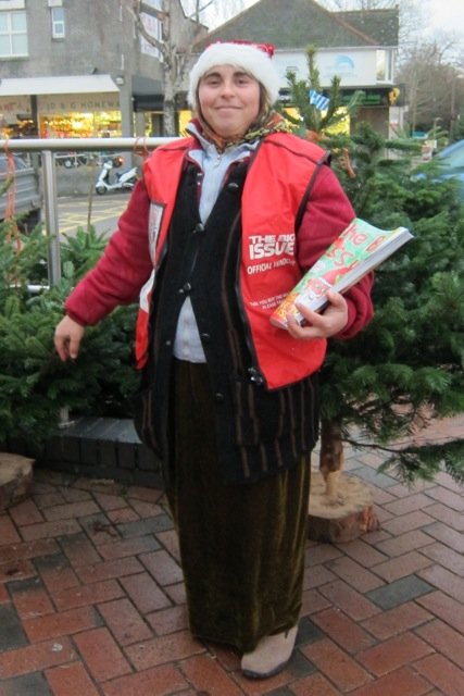 The Big Issue vendor from Bosnia: selling at the Fryern Arcade in Chandler's Ford.
