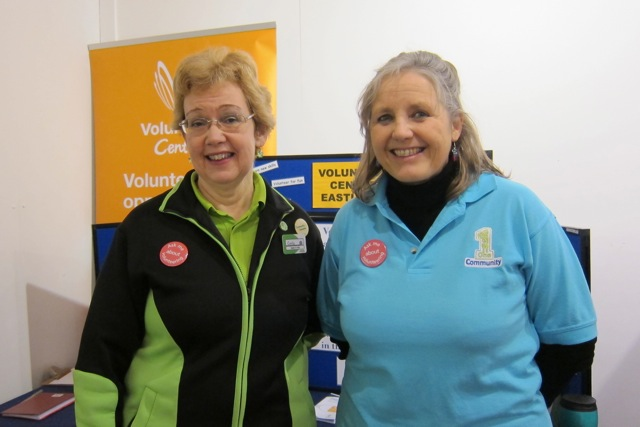 Ceceily Casey - Asda Eastleigh Community Champion, and Julia Allan, Head of Voluntary Sector Support Team.