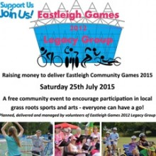Support Eastleigh Games 2012 Legacy Group: Community Games 25th July 2015