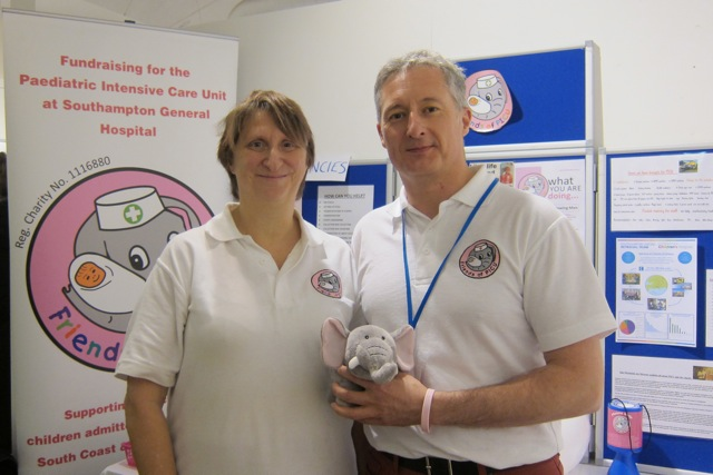 Friends of PICU: Rosie Mitchell and Mark Hilder.