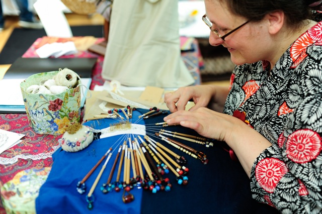 Historical costumier Helen McArdle will be demonstrating some of the skills she uses in her art.
