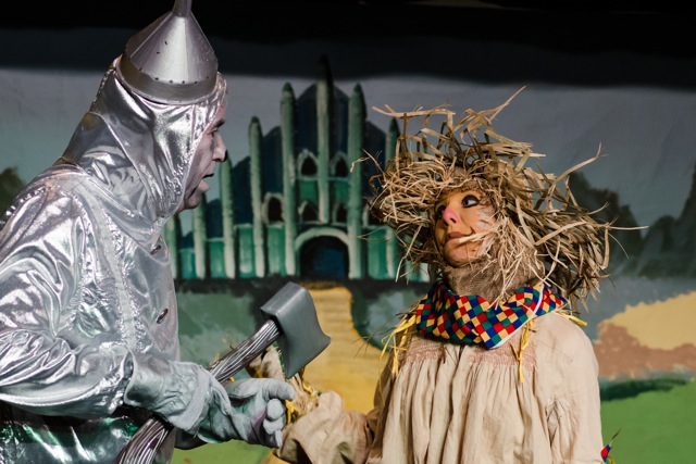 Tinman was played by Nick Coleman, and Scarecrow by Naomi Scott. The Wizard of Oz cast, by Chandler's Ford Chameleon Theatre Company - January 2015 Pantomime.