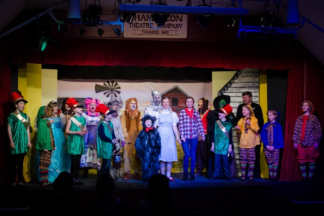 The Wizard of Oz cast, by Chandler's Ford Chameleon Theatre Company - January 2015 Pantomime.