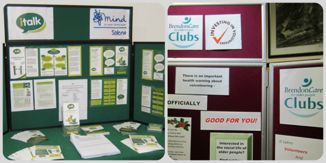 Brendoncare Clubs, a  social club for older people to meet new friends, and Solent Mind, for better mental health.