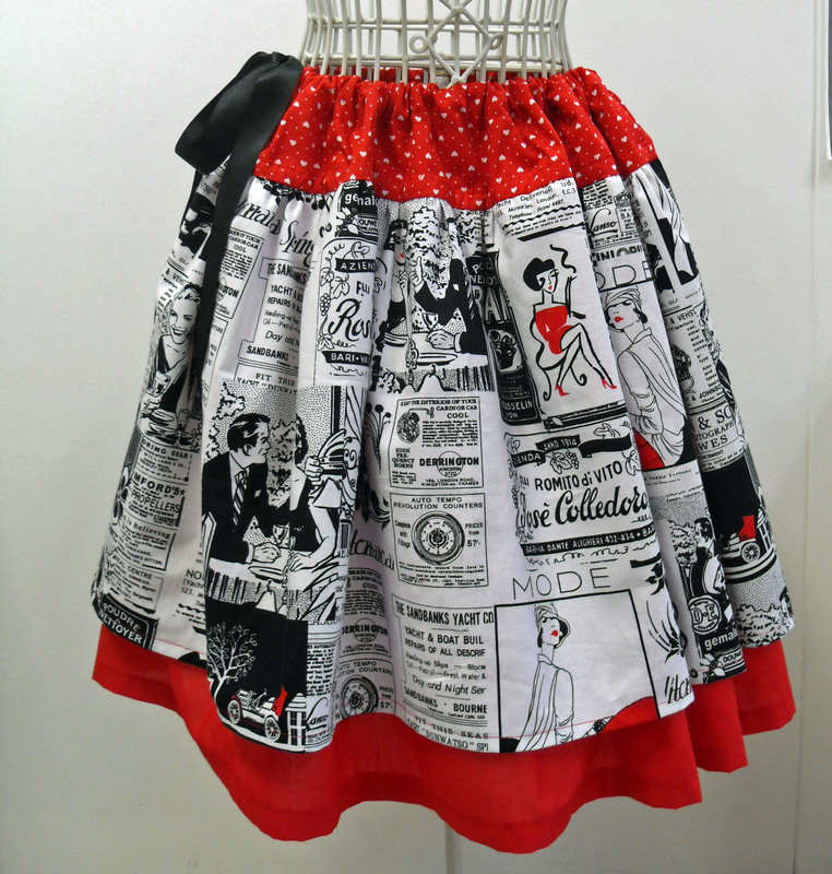 Anna Lambert specialises in feminine gathered skirts for girls and women, all with a nifty and practical adjustable fit.