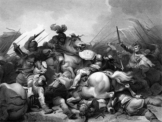 Battle of Bosworth Field, image via Wikimedia Commons.