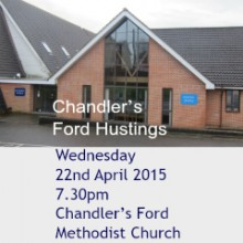 Chandler's Ford Hustings: Wednesday 22nd April 2015 at the Methodist Church.