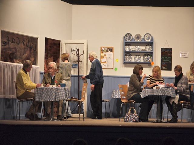 Love, Loss & Latte, by Chandler's Ford MDG Players, was written by Sarah Sullivan.