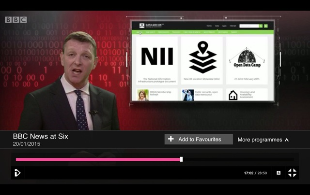 Open Data Camp featured briefly on the BBC 6pm news.