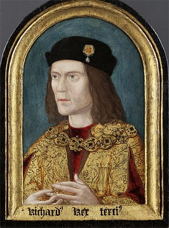 Richard III - By Unknown artist; uploaded to wikipedia by Silverwhistle (Richard III Society website via English Wikipedia) [Public domain], via Wikimedia Commons.