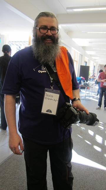 One of the campmakers - Sasha Taylor of British Association of Public-Safety Communications Officials.