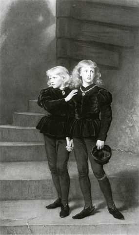 The Princes in the Tower, via Wikimedia Commons.